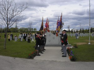 Ceremony at Field of Honour - June 2009
