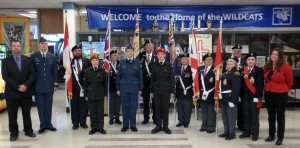 Transcona Legion attends Remembrance Day Service at John Gunn School 2013
