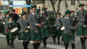 Transcona Pipe Band  in Nov 11 Parade