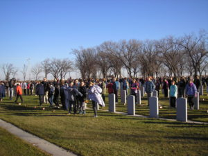 School Children at Transcona Field of Honour