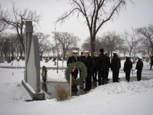 Transcona Sea Cadets present wreath