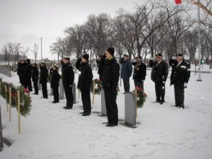 Transcona Sea Cadets and Legion Members salute Veterans