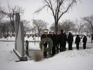 Transcona Sea Cadets present wreath