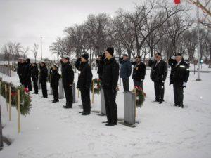 Transcona Sea Cadets and Legion Members salute Veterans
