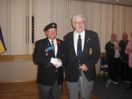 Henry Golis receives 60 year Membership pin - Oct 2011