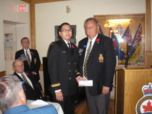 Presentation to Transcona Sea Cadets - Nov 2011