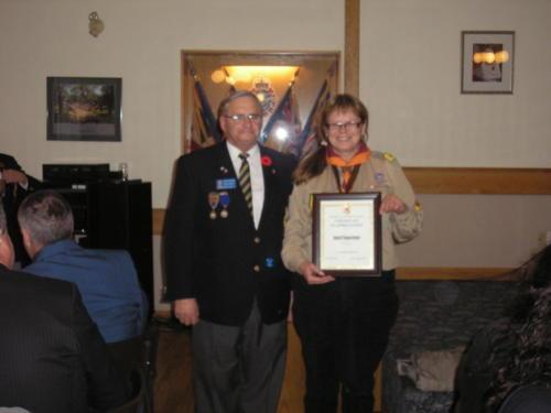 Certificate of Appreciation - Nov 2011